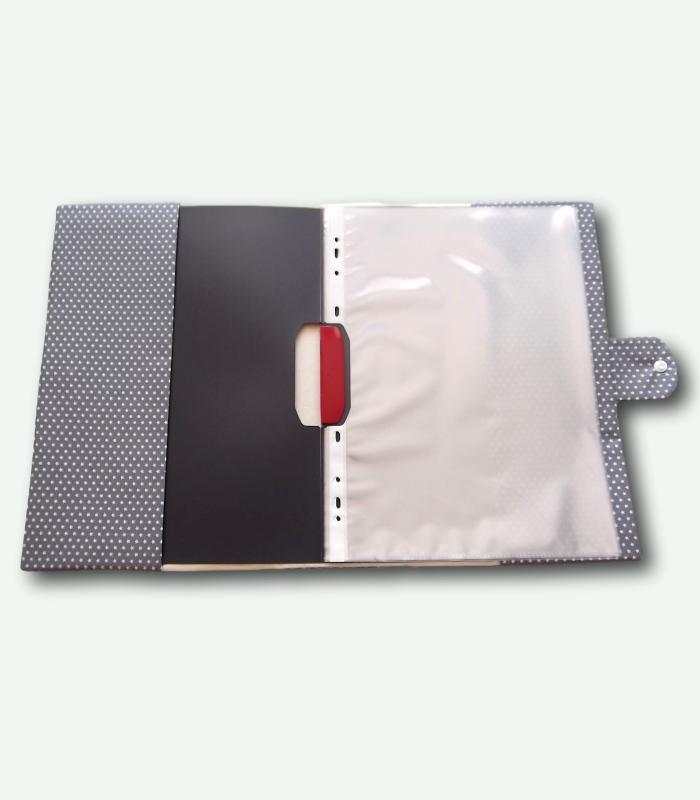Zeugnismappe, Umschlag A4 Mit Hefter Und Namen Grau/rot